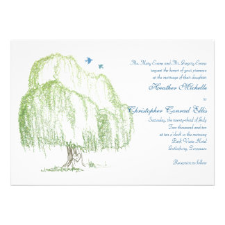 Willow Tree Wedding Invitation