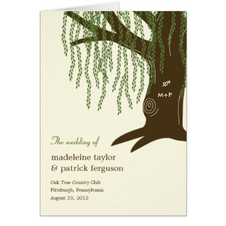 Willow Tree Wedding Program Card