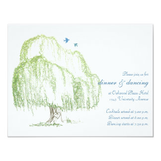 Willow Tree Wedding Reception Card Custom Invitation