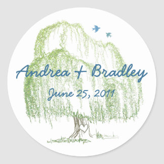 Willow Tree Wedding Seal or Favor Tag Stickers