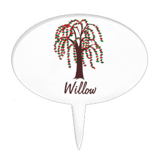 Willow Tree with Hearts - Customizable Cake Picks