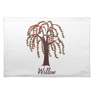 Willow Tree with Hearts - Customizable Place Mat