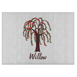 Willow Tree with Hearts - Customizable Cutting Board