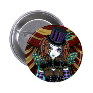 """Willow"" Victorian Steampunk Circus Fairy Button"