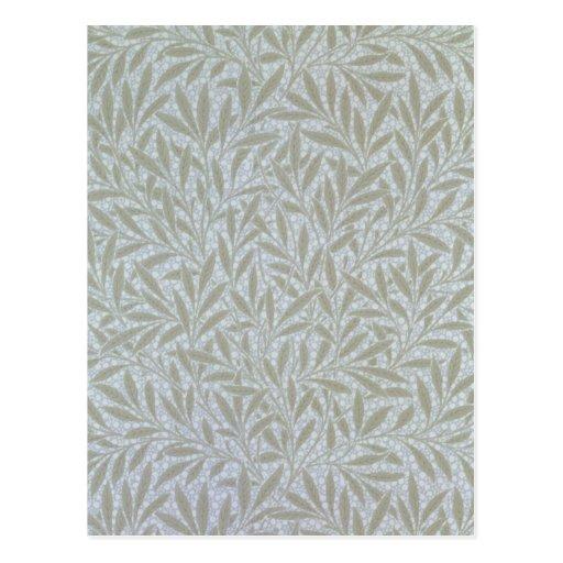 Willow wallpaper design, 1874 post card