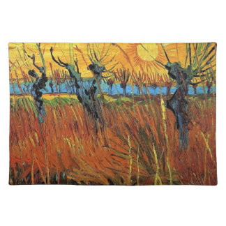 Willows at Sunset,Vincent van Gogh Place Mat