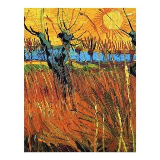 Willows at Sunset,Vincent van Gogh Full Color Flyer