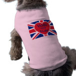 Wills and Kate with Union Jack on Tshirts, Gifts Sleeveless Dog Shirt
