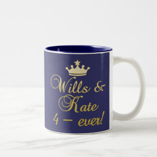 Wills & Kate 4-Ever T-shirts, Mugs, Gifts Two-Tone Coffee Mug