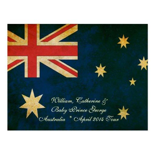 Wills Kate and Baby George Australia 2014 Postcard