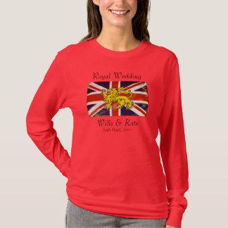 Wills & Kate Royal Wedding T-Shirt (Red)