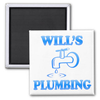 Will's Plumbing Square Magnet