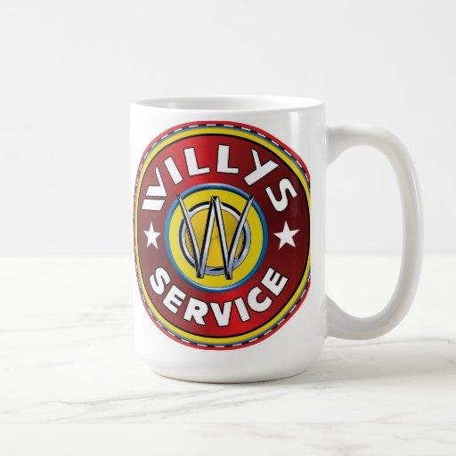 Willys authorized service sign mug