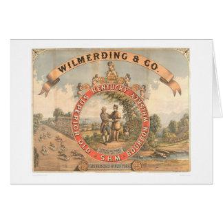 Wilmerding & Co. Kentucky Whiskey (1855A) Greeting Card