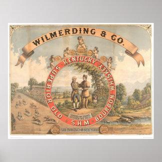 Wilmerding & Co. Kentucky Whiskey (1855A) Poster