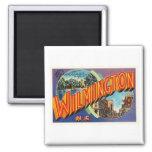 Wilmington #2 North Carolina NC Vintage Postcard- Square Magnet