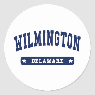 Wilmington Delaware College Style tee shirts Round Stickers