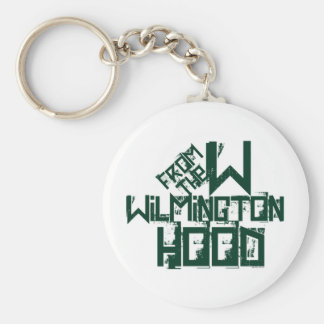 Wilmington North Carolina Basic Round Button Key Ring