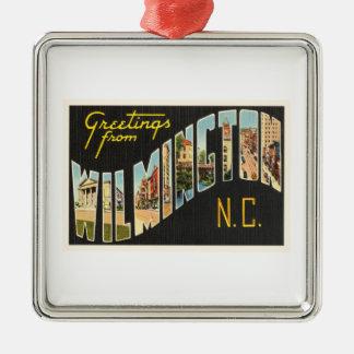 Wilmington North Carolina NC Old Vintage Postcard- Silver-Colored Square Decoration