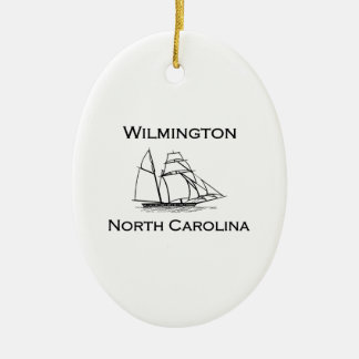 Wilmington North Carolina Tall Ship Christmas Ornament