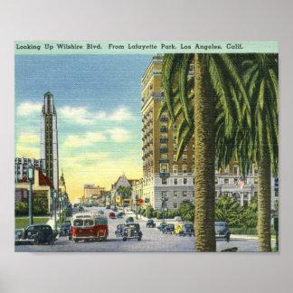 Wilshire Blvd., Los Angeles, California Vintage Posters