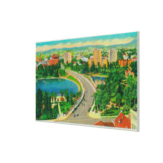 Wilshire Boulevard, Gen. Douglas MacArthur Canvas Print