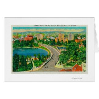 Wilshire Boulevard, Gen. Douglas MacArthur Greeting Card