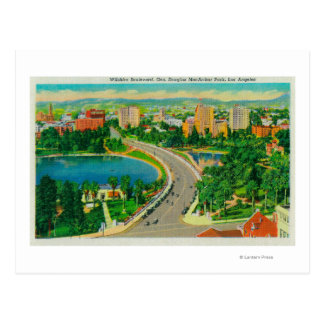 Wilshire Boulevard Gen Douglas MacArthur Postcards