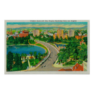 Wilshire Boulevard, Gen. Douglas MacArthur Print