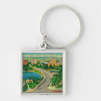 Wilshire Boulevard, Gen. Douglas MacArthur Silver-Colored Square Key Ring