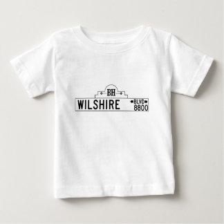 Wilshire Boulevard, Los Angeles, CA Street Sign Baby T-Shirt
