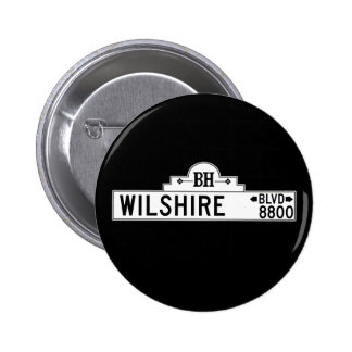Wilshire Boulevard, Los Angeles, CA Street Sign 6 Cm Round Badge