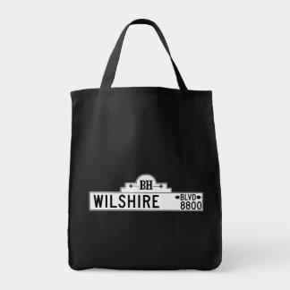 Wilshire Boulevard Los Angeles CA Street Sign Tote Bags