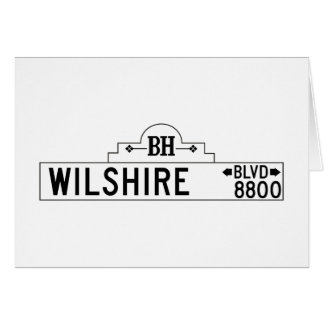 Wilshire Boulevard, Los Angeles, CA Street Sign Greeting Card