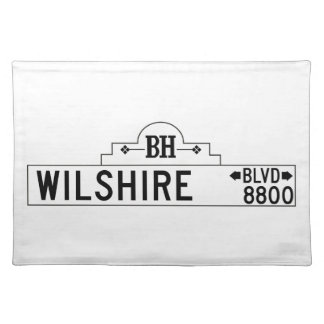 Wilshire Boulevard, Los Angeles, CA Street Sign Place Mat
