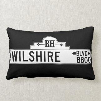 Wilshire Boulevard Los Angeles CA Street Sign Throw Pillow