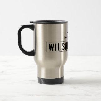 Wilshire Boulevard, Los Angeles, CA Street Sign Coffee Mugs