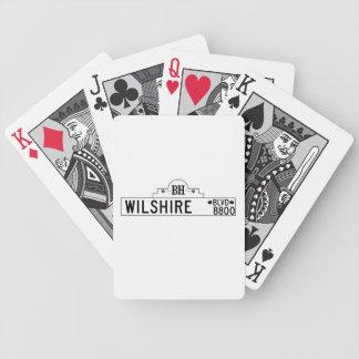 Wilshire Boulevard Los Angeles CA Street Sign Poker Deck