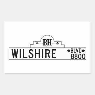 Wilshire Boulevard, Los Angeles, CA Street Sign Rectangular Sticker
