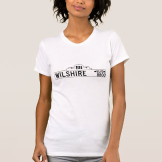 Wilshire Boulevard, Los Angeles, CA Street Sign T Shirts