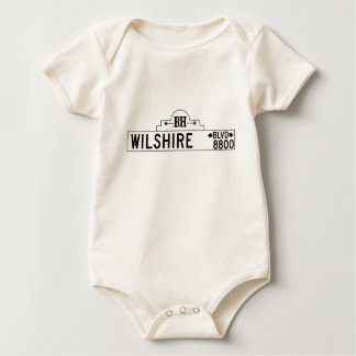 Wilshire Boulevard, Los Angeles, CA Street Sign Baby Bodysuits