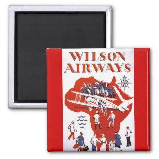 Wilson Airways ~ Africa Square Magnet
