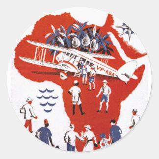 Wilson Airways ~ Africa Round Sticker