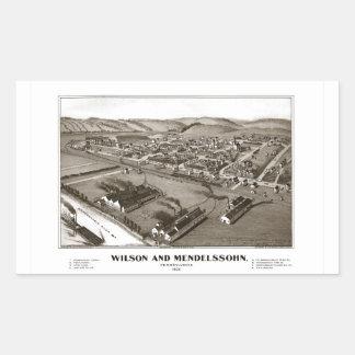 Wilson and Mendelssohn Rectangular Sticker