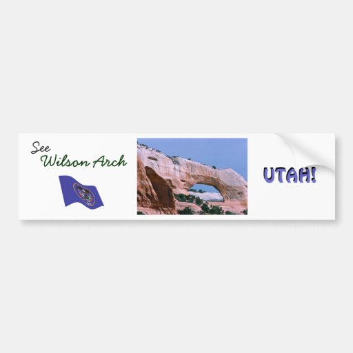 Wilson Arch Vintage Style Bumper Stickers