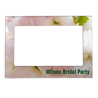Wilson Bridal Party photo frames Pastel Blossoms Magnetic Picture Frames