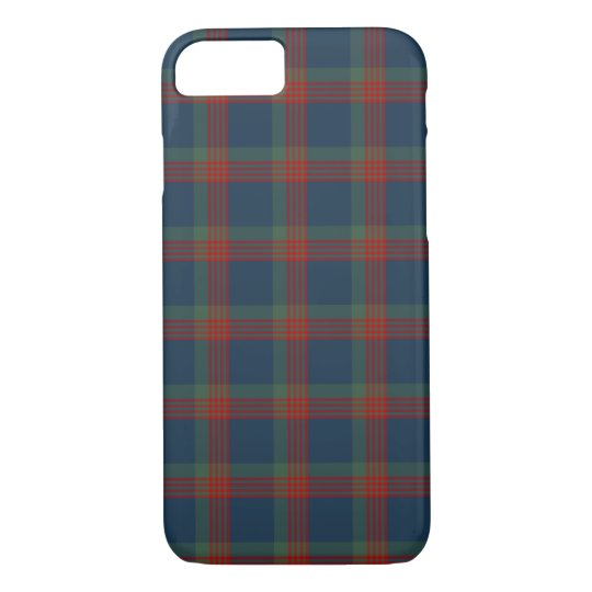 Wilson Clan Blue, Green and Red Tartan iPhone 8/7 Case
