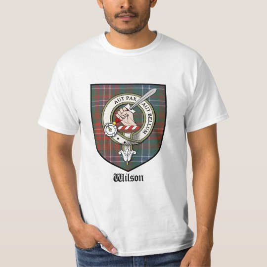 Wilson Clan Crest Badge Tartan T-Shirt