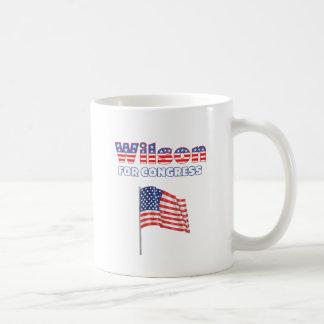 Wilson for Congress Patriotic American Flag Design Mug