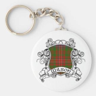 Wilson Tartan Shield Basic Round Button Key Ring